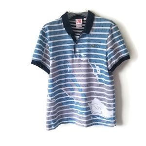 Lacoste shirt polo lake map sz 6 Medium
